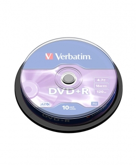 Verbatim DVD+R (4.7GB) 16x (10pcs in Spindle) [Cake Box]